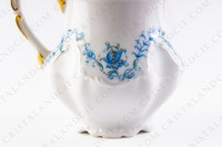 Creamer in Limoges china by the Ancienne Manufacture Royale ( Bernardaud) decorated with blue flowers photo-5