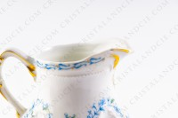 Creamer in Limoges china by the Ancienne Manufacture Royale ( Bernardaud) decorated with blue flowers photo-6