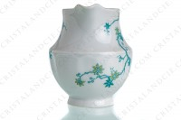 Creamer in Limoges china by Haviland and Parlon with a blue shades pattern of flowered branches and bird photo-2