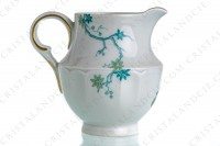 Creamer in Limoges china by Haviland and Parlon with a blue shades pattern of flowered branches and bird photo-3