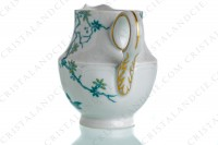 Creamer in Limoges china by Haviland and Parlon with a blue shades pattern of flowered branches and bird photo-4