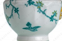 Creamer in Limoges china by Haviland and Parlon with a blue shades pattern of flowered branches and bird photo-6