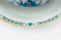 Gravy boat in Limoges china by Haviland, pattern Nankin decorated with blue and gold flowers photo-5