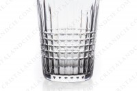 Set of nine tumblers in crystal by Baccarat pattern Nancy with an important cut pattern of grid photo-3