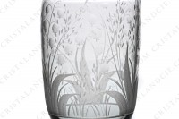 Cordial set in crystal by Saint-Louis with an important engraved pattern of lilies of the valley photo-7