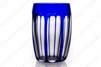 Set of six Sherry tumblers in blue double layer crystal by Saint-Louis photo-2