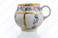 Set of six Art Deco coffee cups in china of Limoges by Legrand decorated with polychromes flowers photo-5