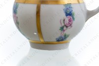 Set of six Art Deco coffee cups in china of Limoges by Legrand decorated with polychromes flowers photo-7