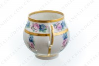 Set of six Art Deco coffee cups in china of Limoges by Legrand decorated with polychromes flowers photo-8