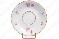 Set of six coffee cups in china of Limoges by Bernardaud decorated with polychromes flowers and gold borders photo-6
