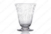 Set of six watergoblets n°2 in crystal by Baccarat pattern Michelangelo with an important engraved pattern photo-2