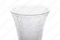Set of six watergoblets n°2 in crystal by Baccarat pattern Michelangelo with an important engraved pattern photo-3