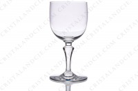 Set of six watergoblets n°2 in crystal by Baccarat pattern Normandie with a baluster stem photo-2