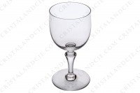 Set of six watergoblets n°2 in crystal by Baccarat pattern Normandie with a baluster stem photo-3