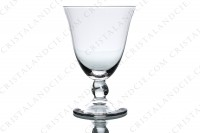 Set of six water glasses n°2 in crystal by Daum collection Orval with a twisted stem photo-2