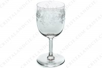 Set of six watergoblets n°2 in crystal by Baccarat pattern Sévigné with an engraved pattern of arabesques photo-3