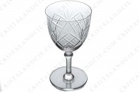 Set of six water glasses n°2 in crystal by Saint-Louis with a cut pattern photo-4