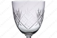 Set of six water glasses n°2 in crystal by Saint-Louis with a cut pattern photo-5