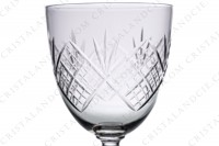 Set of six water glasses n°2 in crystal by Saint-Louis with a cut pattern photo-6