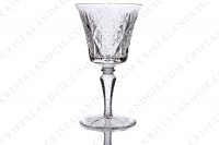 Set of six watergoblets n°2 in crystal by Saint-Louis pattern Vologne with an important cut pattern photo-2