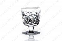 Set of six Sherry glasses n°5 in crystal by Baccarat pattern Muret with an important cut pattern photo-2