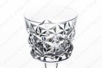 Set of six Sherry glasses n°5 in crystal by Baccarat pattern Muret with an important cut pattern photo-3