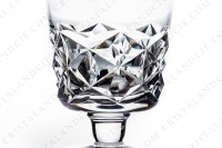 Set of six Sherry glasses n°5 in crystal by Baccarat pattern Muret with an important cut pattern photo-4