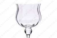 Set of six Sherry glasses n°5 in crystal by Daum pattern Verone with a parison decorated with venetians cuts, with a hollow foot photo-4