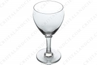 Set of six wine glasses n°3 in crystal by Baccarat pattern Chambolle decorated with a small engraved stripe around the gob photo-3