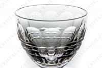 Set of six wine glasses n°4 in crystal by Baccarat pattern Charmes with a cut pattern on the parison photo-3
