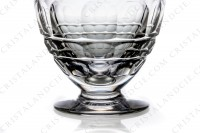 Set of six wine glasses n°4 in crystal by Baccarat pattern Charmes with a cut pattern on the parison photo-4