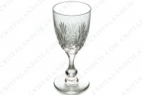 Set of six wine glasses n°4 in crystal by Saint-Louis pattern Massenet with an important cut pattern on the parison and a ring on the dawn of the stem photo-3