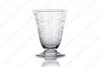 Set of six wine glasses n°4 in crystal by Baccarat pattern Michelangelo with an important engraved pattern photo-2