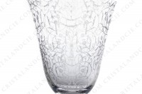 Set of six wine glasses n°4 in crystal by Baccarat pattern Michelangelo with an important engraved pattern photo-3