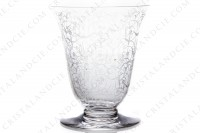 Set of six wine glasses n°3 in crystal by Baccarat pattern Michelangelo with an important engraved pattern photo-3
