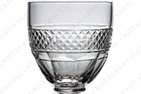 Six Wine glasses n°4 in crystal by Saint-Louis pattern Trianonwith the parison is decorated with a Diamond tips frieze, stem with a ring photo-3