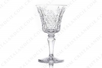 Set of six wine glasses n°3 in crystal by Saint-Louis pattern Vologne with an important cut pattern photo-2