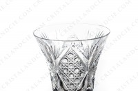 Set of six wine glasses n°3 in crystal by Saint-Louis pattern Vologne with an important cut pattern photo-3
