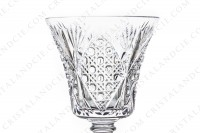 Set of six wine glasses n°3 in crystal by Saint-Louis pattern Vologne with an important cut pattern photo-4