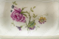 Soup tureen in china of Limoges by Bernardaud shape Régence decorated with polychromes flowers photo-4
