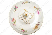 Soup tureen in china of Limoges by Bernardaud shape Régence decorated with polychromes flowers photo-6