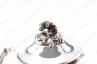 Sugar bowl in platted silver by Christofle pattern Marly decorated with acanthus leaves photo-3