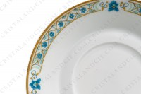 Coffee cup in Limoges china by Haviland, pattern Nankin decorated with blue and gold flowers photo-8