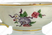 Tea cup in china of Limoges by Bernardaud pattern Bengali decorated with polychromes flowers and birds of paradise photo-7