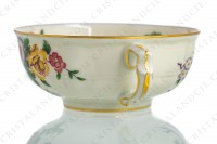 Tea cup in china of Limoges by Bernardaud pattern Bengali decorated with polychromes flowers and birds of paradise photo-5