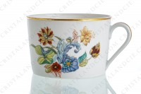 Tea cup in Limoges china by Haviland pattern Cathay decorated with polychromes flowers photo-3