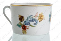 Tea cup in Limoges china by Haviland pattern Cathay decorated with polychromes flowers photo-5