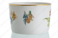 Tea cup in Limoges china by Haviland pattern Cathay decorated with polychromes flowers photo-6