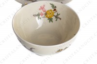 Tea cup in china of Limoges by Theodore Haviland decorated with a Japanese pattern of polychrome flowers photo-6