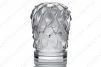 Paperweight in clear and frosted crystal by Lalique pattern Eagle head photo-4